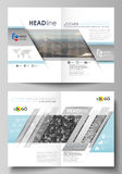 Business templates for bi fold brochure, flyer, booklet, report. Cover design template, vector layout in A4 size Royalty Free Stock Image