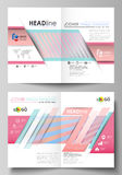 Business templates for bi fold brochure, flyer, booklet or report. Cover template Stock Images