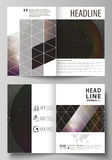 Business templates for bi fold brochure, flyer, booklet, report.  Royalty Free Stock Photography