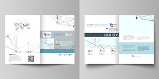 Business templates for bi fold brochure, flyer, report. Cover design template, vector layout in A4 size. Chemistry Royalty Free Stock Photography