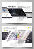Business templates for bi fold brochure, flyer, report. Cover design template, vector layout in A4 size. Colorful Royalty Free Stock Photo