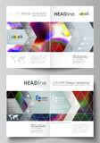 Business templates for bi fold brochure, magazine, flyer, booklet or annual report. Cover template, flat vector layout Royalty Free Stock Photos