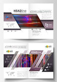 Business templates for bi fold brochure, magazine, flyer, booklet, report. Cover design template, abstract vector layout Royalty Free Stock Photography