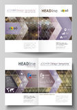 Business templates for bi fold brochure, magazine, flyer, booklet, report. Cover design template, vector layout in A4 Stock Photo