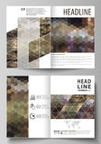 Business templates for bi fold brochure, magazine, flyer, booklet, report. Cover design template, vector layout in A4 Royalty Free Stock Photos