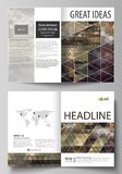 Business templates for bi fold brochure, magazine, flyer, booklet, report. Cover design template, vector layout in A4. Business templates for bi fold brochure royalty free illustration