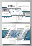Business templates for bi fold brochure, magazine, flyer, booklet or report. Cover template, flat layout in A4 size Stock Image