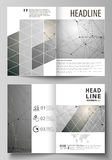 Business templates for bi fold brochure, magazine, flyer. Cover design template, vector layout in A4 size. Chemistry Royalty Free Stock Photos