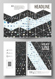 Business templates for bi fold brochure, magazine, flyer. Cover template, abstract layout in A4 size. Soft color dots Royalty Free Stock Photo