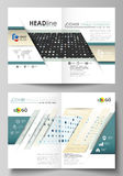 Business templates for bi fold brochure, magazine, flyer. Cover template Royalty Free Stock Image