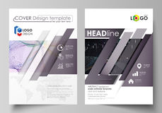 Business templates for brochure, flyer, annual report. Cover design template, vector layout in A4 size. Colorful Stock Photography