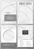 Business templates for brochure, flyer, booklet. Cover design template, abstract vector layout in A4 size. Alchemical Royalty Free Stock Image