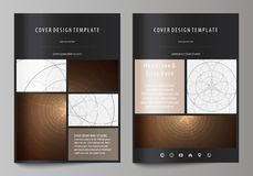 Business templates for brochure, flyer, booklet. Cover design template, abstract vector layout in A4 size. Alchemical. Business templates for brochure, magazine royalty free illustration