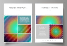 Business templates for brochure, flyer, booklet. Cover template, abstract vector layout in A4 size. Minimalistic design Royalty Free Stock Photos