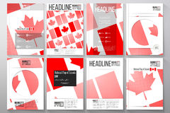 Business templates for brochure, flyer or booklet. National Flag of Canada Day. Abstract dotted vector background Stock Image