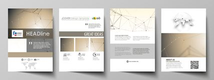 Business templates for brochure, flyer, booklet, report. Cover design template, vector layout in A4 size. Technology. Business templates for brochure, magazine royalty free illustration