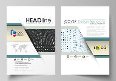 Business templates for brochure, flyer, booklet, report. Cover template, abstract layout in A4 size. Soft color dots Royalty Free Stock Image