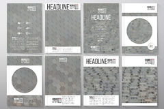 Business templates for brochure, flyer or booklet Stock Photo