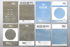 Business templates for brochure, flyer or booklet. Business vector templates for brochure, flyer or booklet. Dry land and blue sky with clouds. Abstract Royalty Free Stock Photos