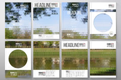 Business templates for brochure, flyer or booklet Stock Image