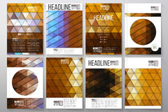 Business templates for brochure, flyer or booklet Royalty Free Stock Photo
