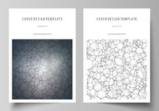 Business templates for brochure, flyer, report. Cover design template, vector layout in A4 size. Chemistry pattern Royalty Free Stock Photography