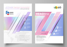 Business templates for brochure, flyer, report. Cover design template, vector layout in A4 size. Hologram, background in. Business templates for brochure Vector Illustration
