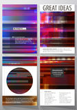 Business templates for brochure, magazine, flyer, annual report. Cover design template, abstract vector layout in A4 Stock Photography