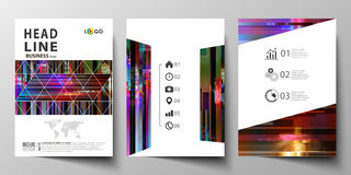 Business templates for brochure, magazine, flyer, annual report. Cover design template, abstract vector layout in A4 Royalty Free Stock Image