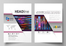 Business templates for brochure, magazine, flyer, annual report. Cover design template, abstract vector layout in A4 Royalty Free Stock Images