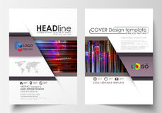 Business templates for brochure, magazine, flyer, annual report. Cover design template, abstract vector layout in A4 Stock Images