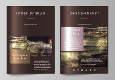 Business templates for brochure, magazine, flyer, annual report. Cover design template, vector layout in A4 size Stock Photos