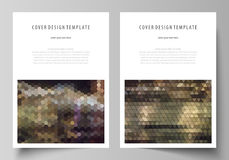 Business templates for brochure, magazine, flyer, annual report. Cover design template, vector layout in A4 size Royalty Free Stock Photos