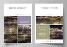 Business templates for brochure, magazine, flyer, annual report. Cover design template, vector layout in A4 size Stock Photo