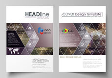 Business templates for brochure, magazine, flyer, annual report. Cover design template, vector layout in A4 size Royalty Free Stock Photo