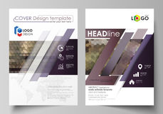 Business templates for brochure, magazine, flyer, annual report. Cover design template, vector layout in A4 size Stock Photography