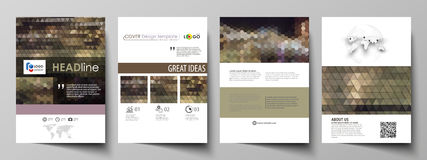 Business templates for brochure, magazine, flyer, annual report. Cover design template, vector layout in A4 size Royalty Free Stock Images