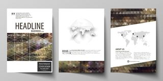 Business templates for brochure, magazine, flyer, annual report. Cover design template, vector layout in A4 size. Business templates for brochure, magazine Stock Photos