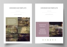 Business templates for brochure, magazine, flyer, annual report. Cover design template, vector layout in A4 size. Business templates for brochure, magazine Royalty Free Stock Photos