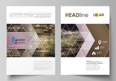 Business templates for brochure, magazine, flyer, annual report. Cover design template, vector layout in A4 size. Business templates for brochure, magazine stock illustration