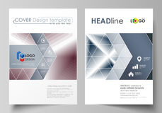 Business templates for brochure, magazine, flyer, annual report. Cover design template, vector layout in A4 size. Simple Royalty Free Stock Photos