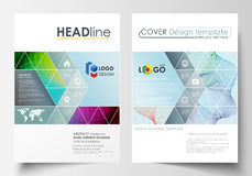 Business templates for brochure, magazine, flyer, annual report. Cover template, easy editable vector, flat layout in A4 Stock Photos
