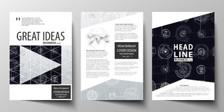 Business templates for brochure, magazine, flyer, annual report. Cover template, layout in A4 size. High tech design. Business templates for brochure, magazine Royalty Free Stock Photo