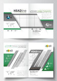 Business templates for brochure, magazine, flyer, booklet or annual report. Cover design, easy editable blank, flat Stock Photo