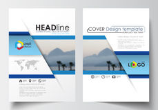 Business templates for brochure, magazine, flyer, booklet or annual report. Cover design template, easy  blank, abstract l Stock Images