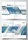 Business templates for brochure, magazine, flyer, booklet or annual report. Cover design template, easy editable blank Stock Image
