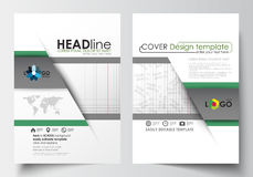 Business templates for brochure, magazine, flyer, booklet or annual report. Cover design template, easy editable blank Stock Images
