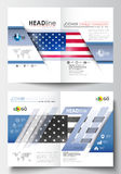 Business templates for brochure, magazine, flyer, booklet or annual report. Cover design template, easy editable blank Royalty Free Stock Photo