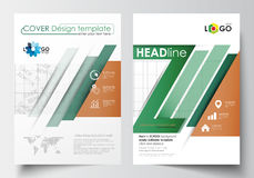 Business templates for brochure, magazine, flyer, booklet or annual report. Cover design template, easy editable blank Royalty Free Stock Images
