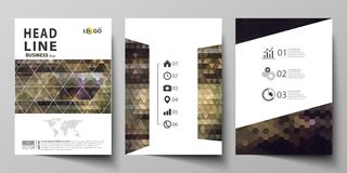 Business templates for brochure, magazine, flyer, annual report. Cover design template, vector layout in A4 size. Business templates for brochure, magazine Royalty Free Stock Photo